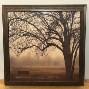 Other - ART Decor Misty Meadow Park Bench Tree Branches